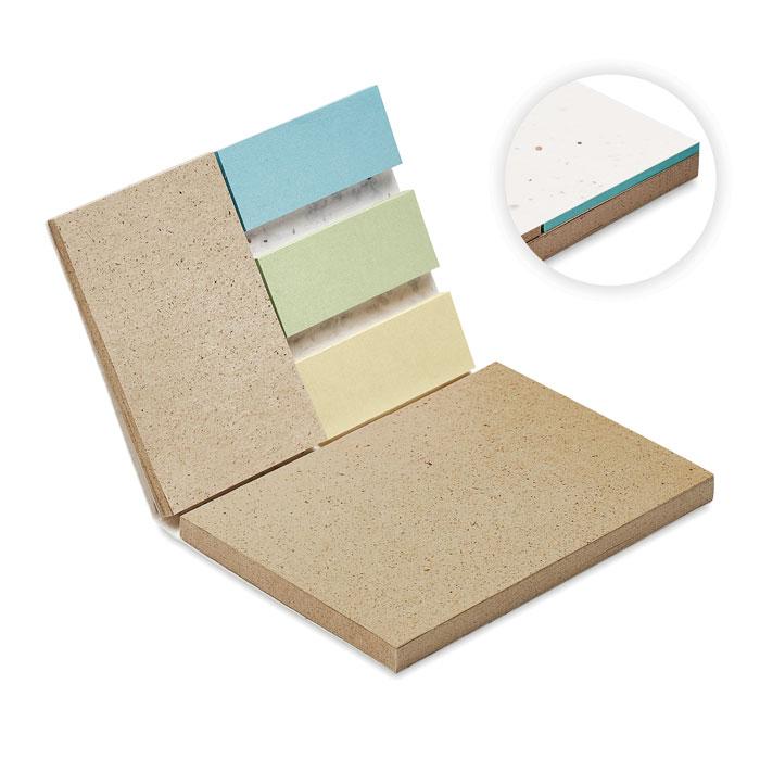 Bloc de notas de 25 hojas de papel de hierba