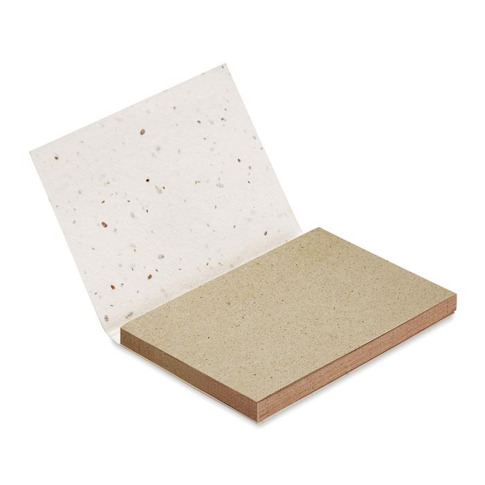 Bloc de notas de 50 hojas de papel de hierba